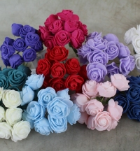 Small and petite artificial foam Rose only 2.5cm wide.