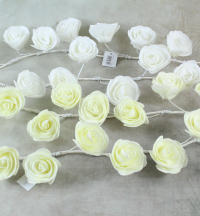 110cm Foam Rose Garland With 15x5cm Roses, Ivory