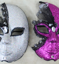 10 Full Face Decoration Masks Per Purchase. 2 Colours Available.