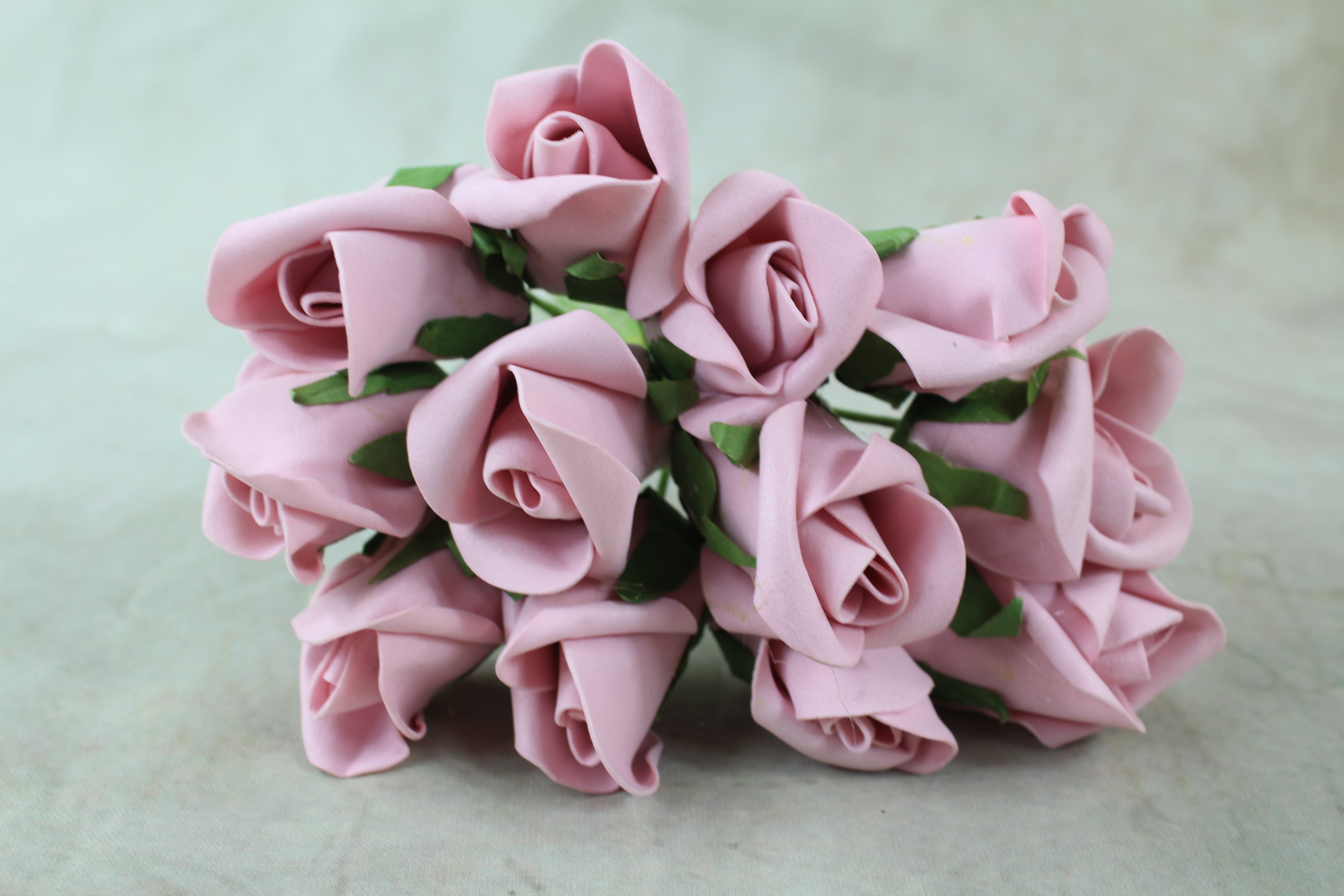 12 x Small Rolled Foam Roses