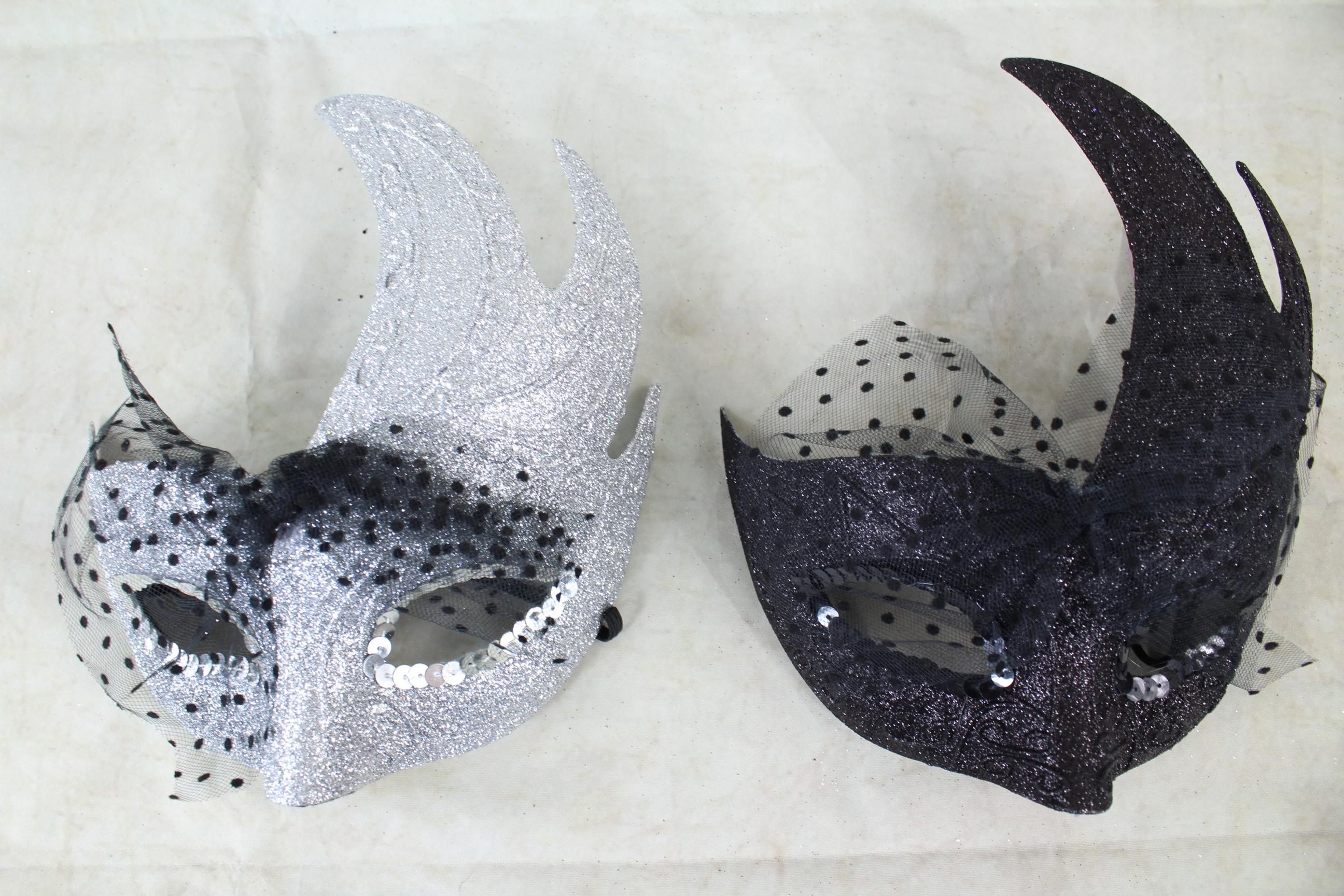 12 x Glitter Flash Ball Masks