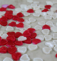 10mm Fabricated Scatter Hearts