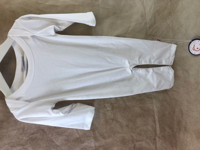 Plain long sleeve white romper suit - BUY 1 GET 1 FREE!