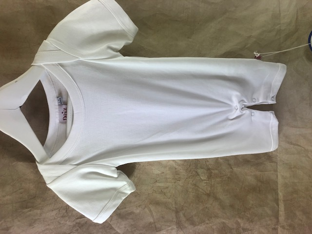 Plain short sleeve white romper suit - BUY 1 GET 1 FREE!