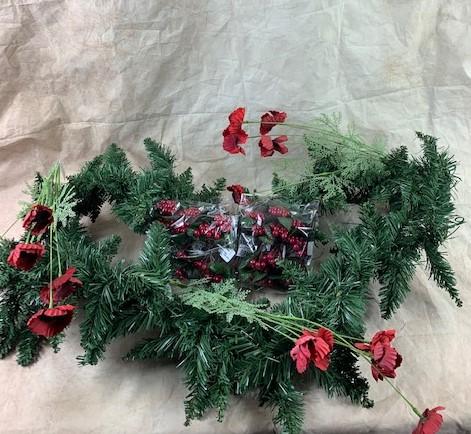 Poppy & Red Berry Garland Bundle