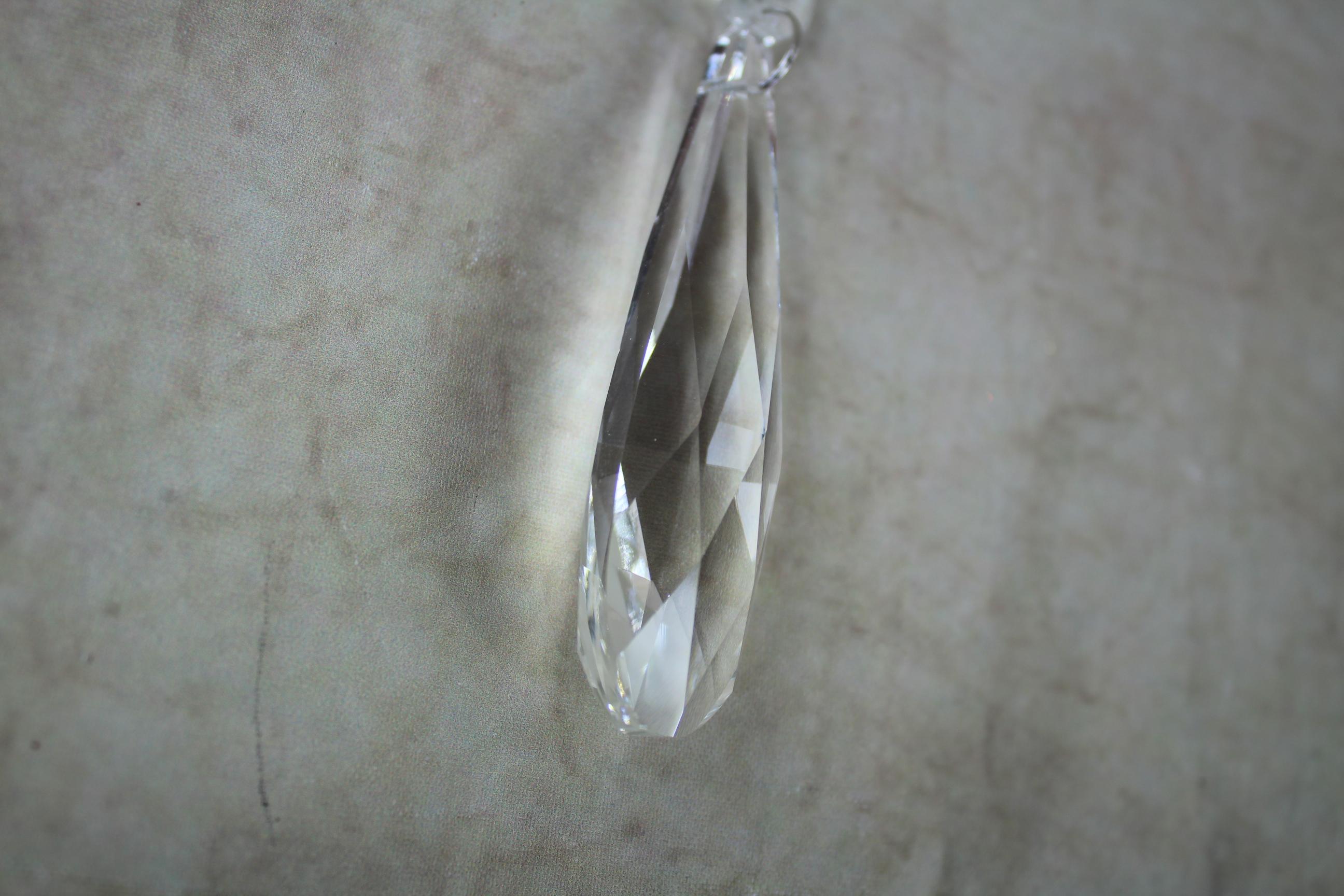 2 x 25cm crystal dropper with 8cm briolette prism