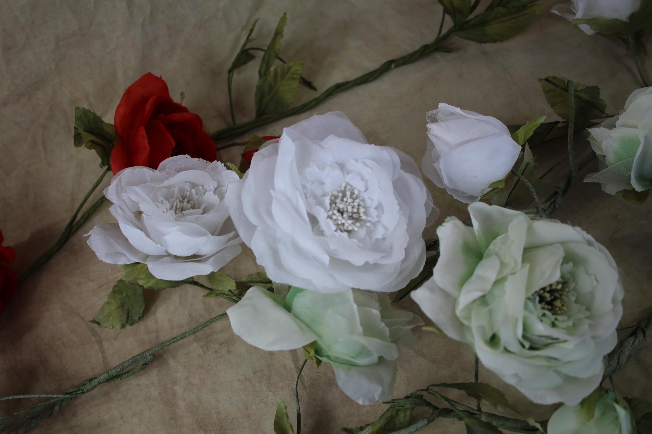 1.5 Metre Quality Silk Rose Garland Rose Heads