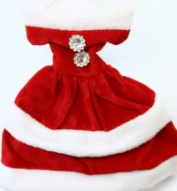 Miniature Mrs Santa dress gift bag Christmas Tree.
