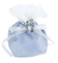 Satin Dolly Bag with Diamante Heart -­ Favours | Weddings & Flowercraft