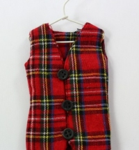 Miniature Tartan waistcoat gift bag for your Christmas Tree.