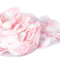 175x Satin Petals with 6x Leaves - Artificial Flowers | Weddings & Flowercraft