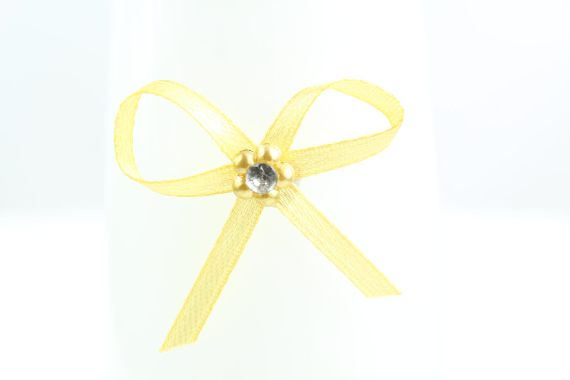 4cm Adhesive Diamanté Daisy Bow