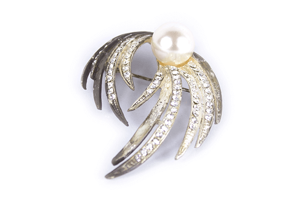 Pearl Mounted Feather Brooches - BUY 3 FOR THE PRICE OF 2!