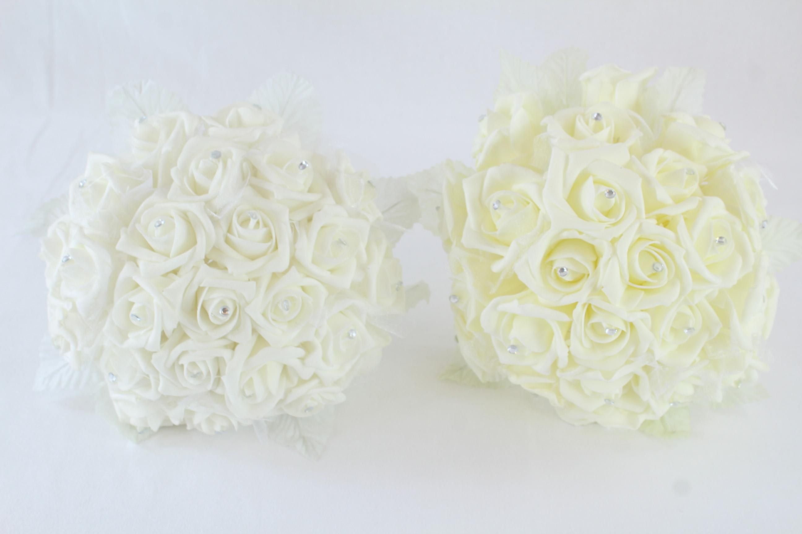 Posey Of 24 Rhinestone Centred Foam Flower Bouquet